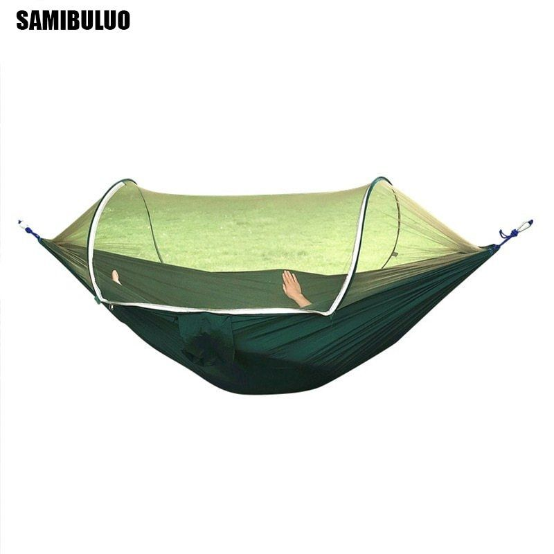 Camping Outdoor Hammock With Mosquito Net Sleeping Swing Parachute Hanging