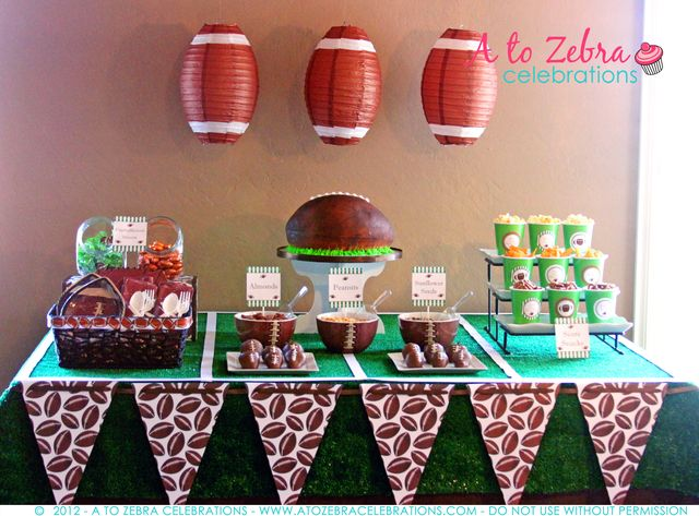 fantasy football draft party party ideas - Super Bowl Party Decorations