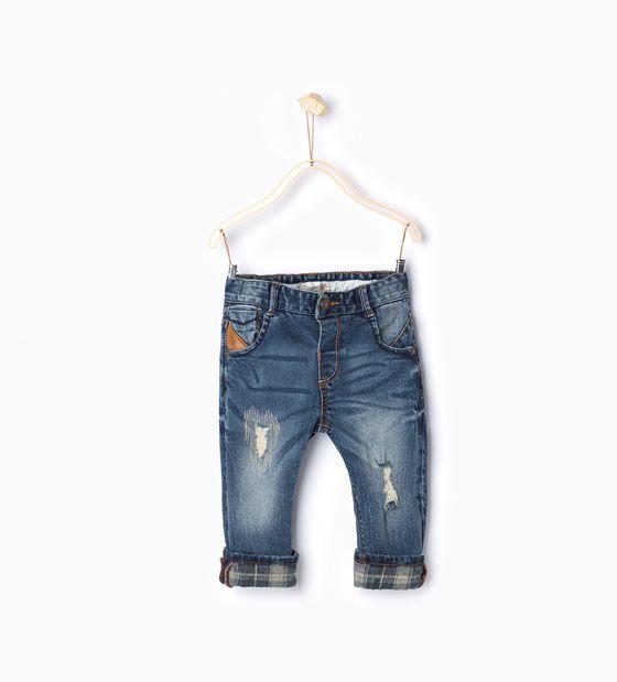 ZARA - ΠΑΙΔΙΚΑ - Παντελόνι με λεπτομέρεια καρό φόδρας | imagenes ...