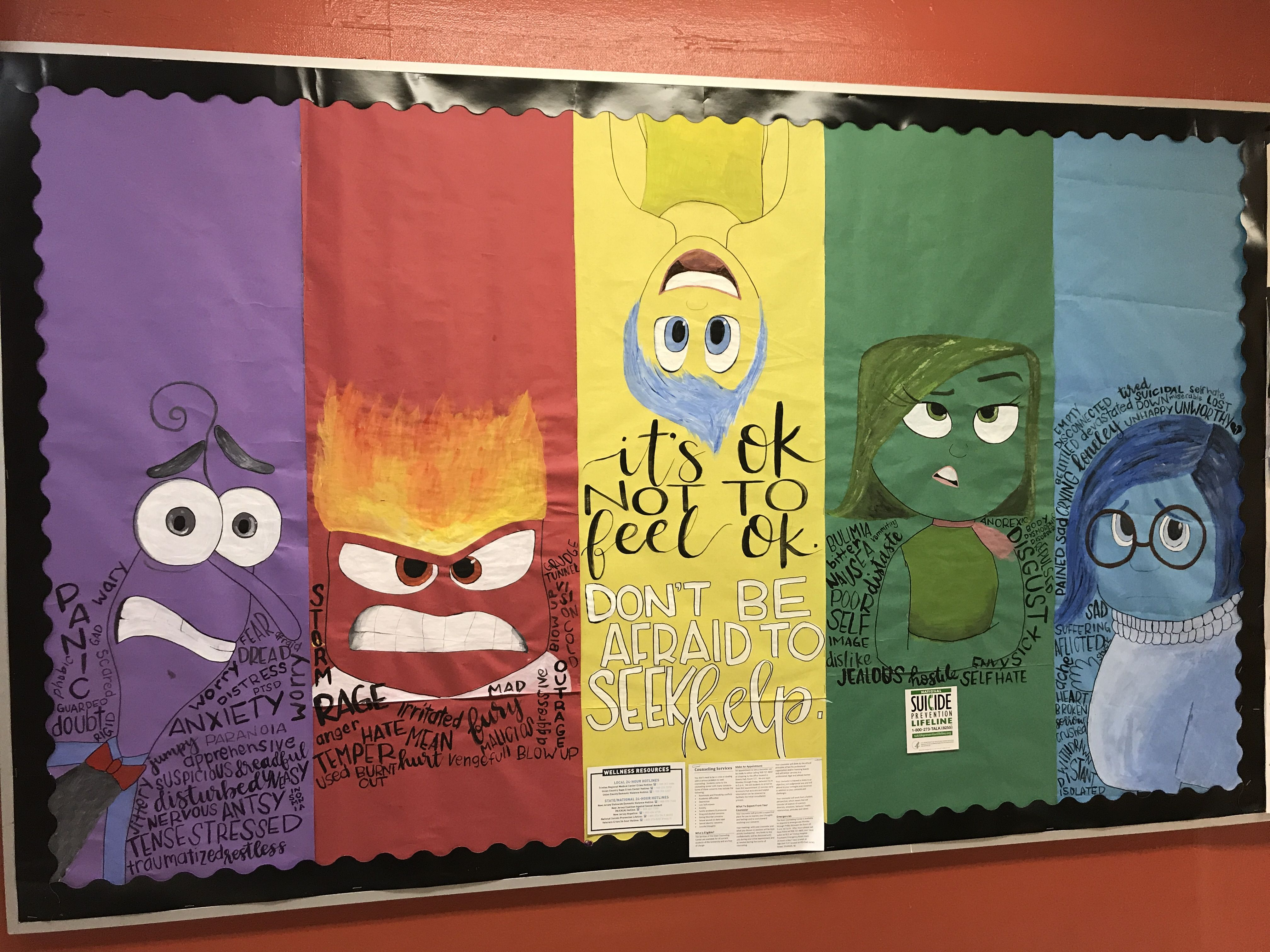 Inside out theme RA bulletin board #rabulletinboards
