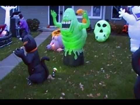Halloween decoration 2012 (daytime) - blow up decorating heaven - halloween inflatable decorations