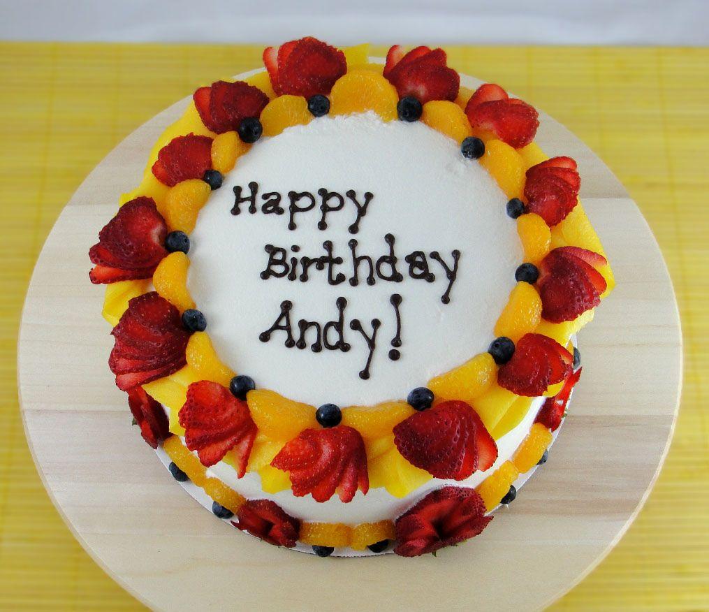 Andys Birthday Fruit Cake Birthday Cakes Pinterest Fruit