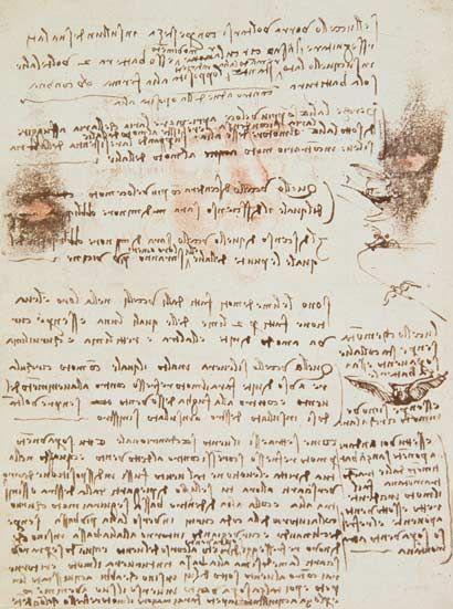 Leonardo da Vinci-Manuscript page from Codici Rari III 35.2 #TuscanyAgriturismoGiratola