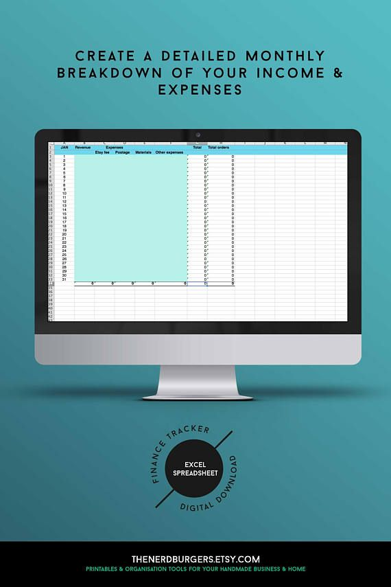 Excel income tracker, expenses tracker, budget planner kit, finance - Financial Spreadsheet For Small Business