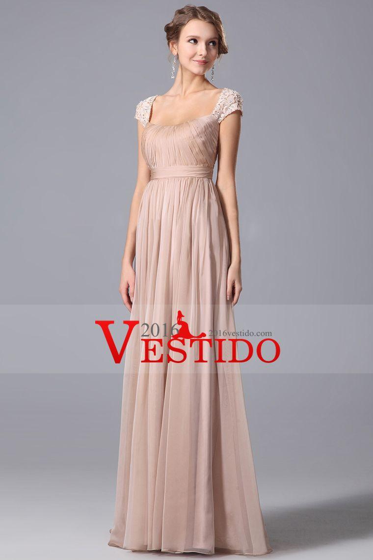2016 vestidos de baile del hombro Una gasa y encaje con volantes ...