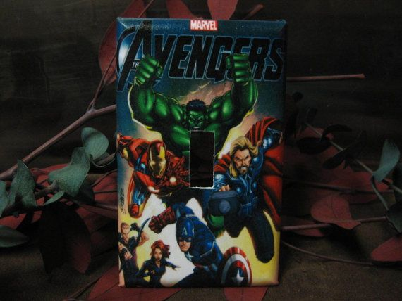 Avengers MARVEL 1 Light Switch Wall Plate by SerendipityzBoutique