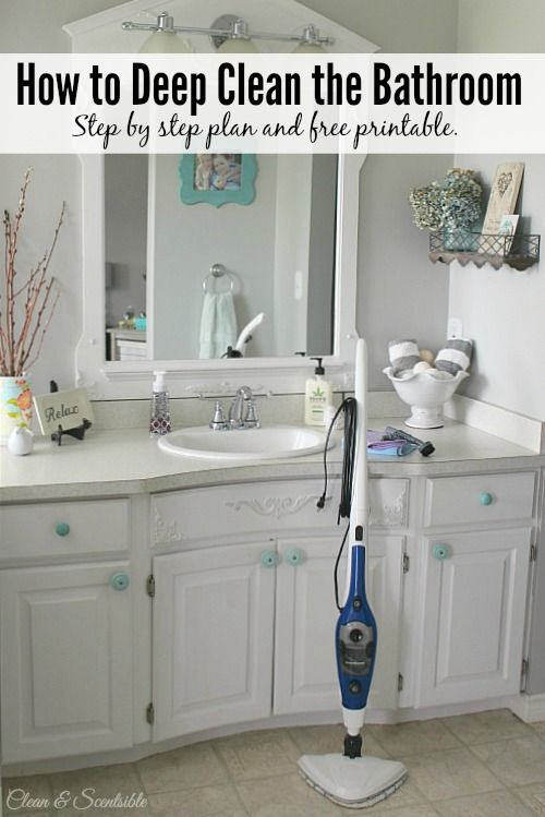 How To Deep Clean The Bathroom Deep Cleaning House Cleaning Tips Toilet Cleaning