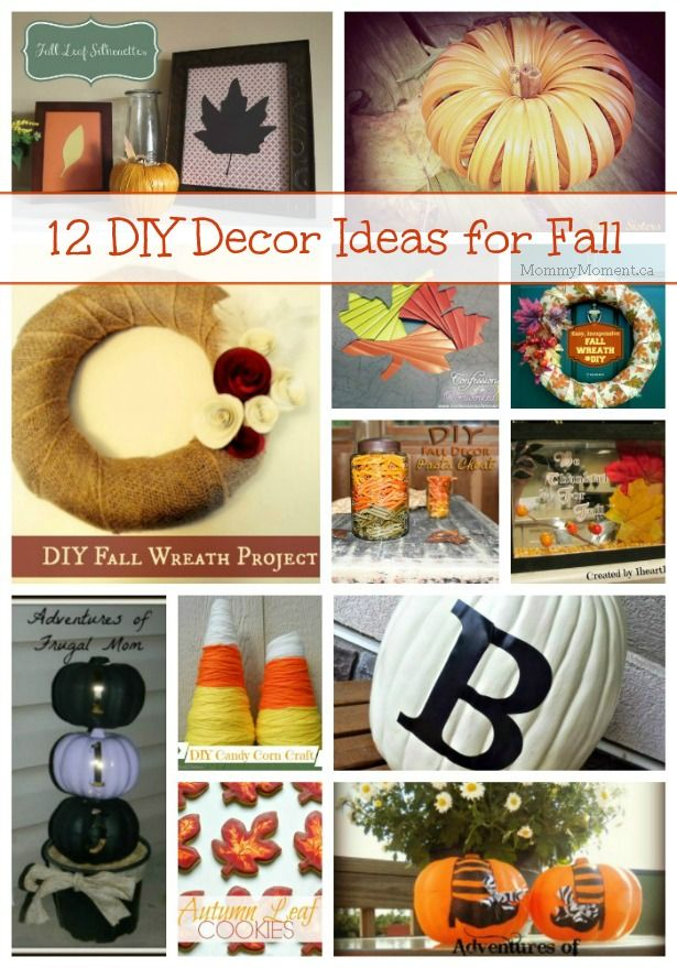 12 DIY Decor Ideas for Fall Diy fall wreath