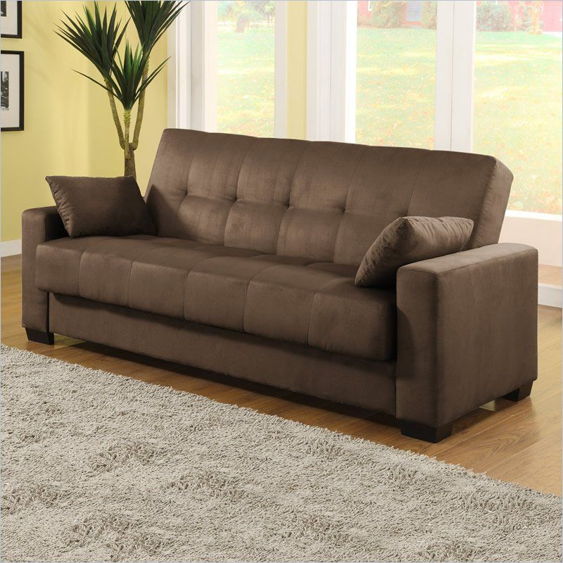 Lifestyle Solutions Napa Casual Convertible Sofa In Java Ca Npa