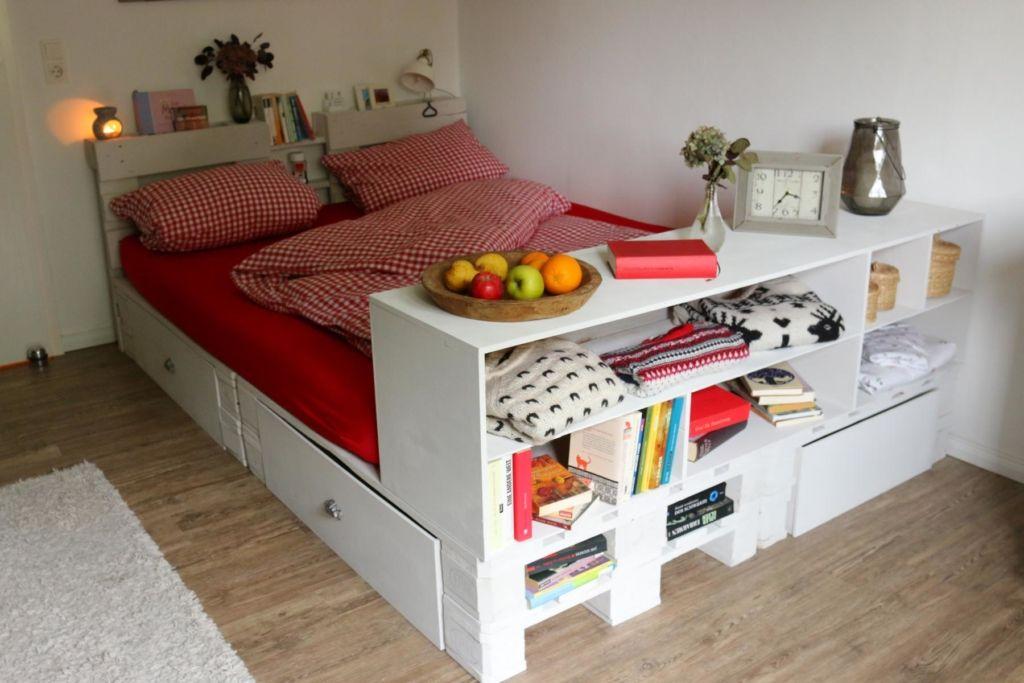 Palettenbett Bett Aus Paletten Palettenbett Und Palettenbett Selber Bauen