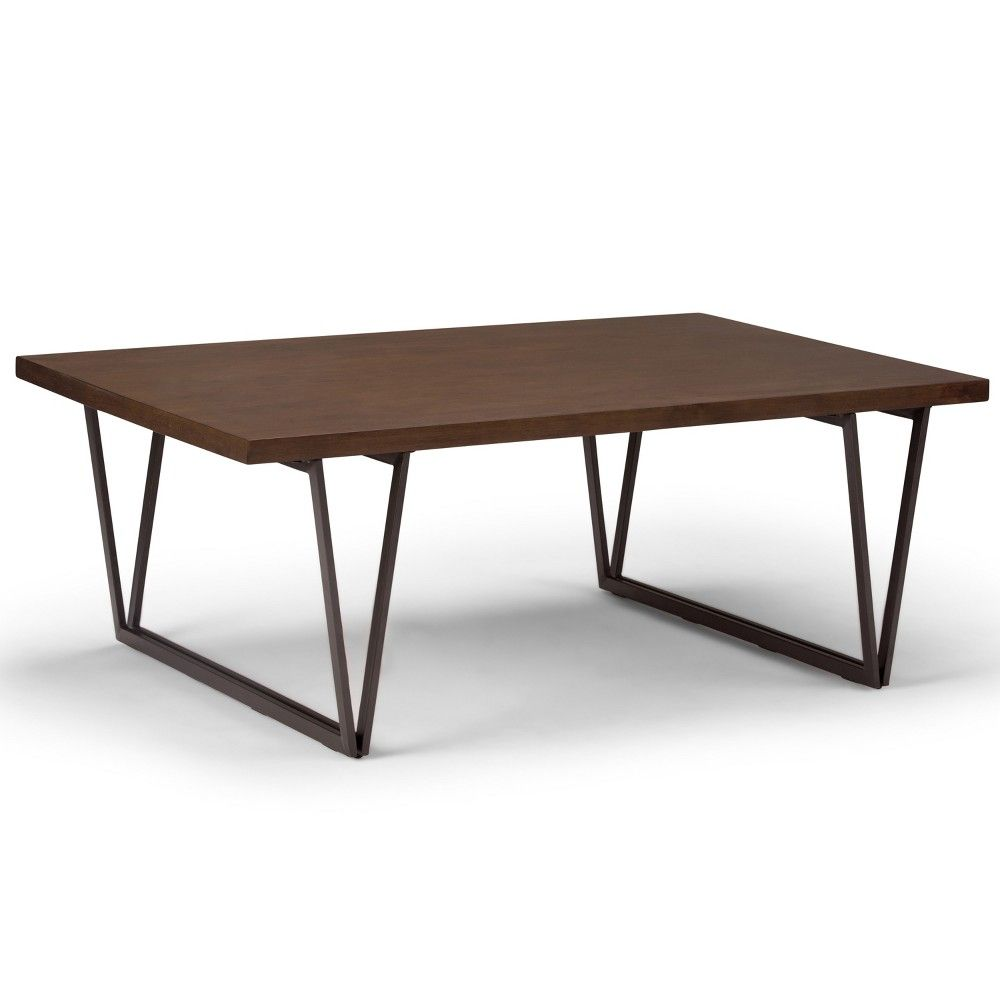 Travis Solid Wood Coffee Table Natural Aged Brown Wyndenhall