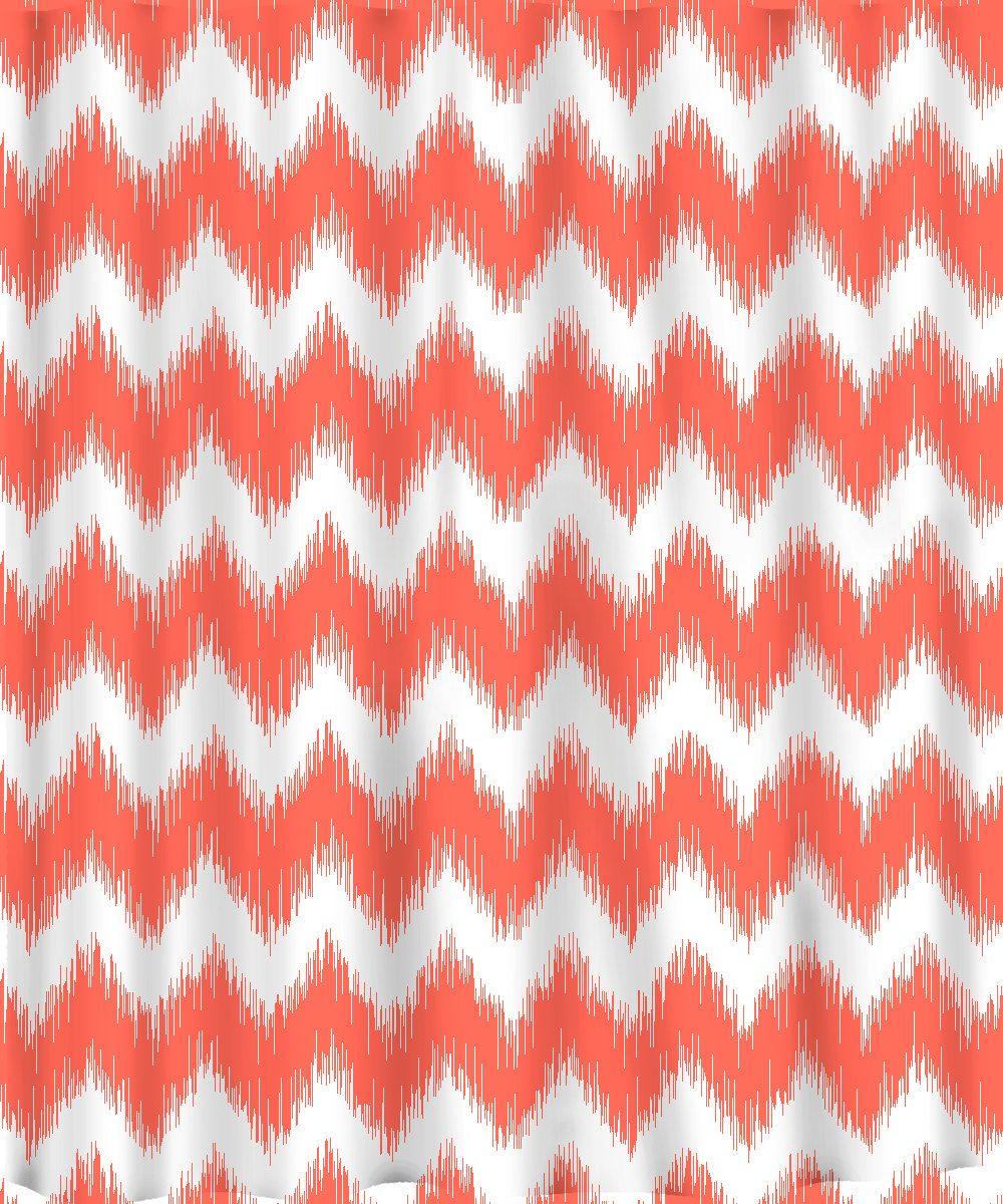 Custom Chevron Ikat Shower Curtain Available Any Color 6800 Via Etsy