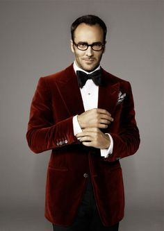 Tom Ford in a Velvet- Marsala - Suit. Perfect color for a