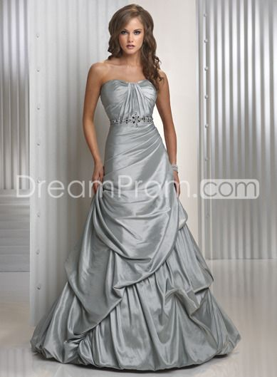 Luxurious A-line Sleeveless Sweetheart Floor-length Prom Dresses P2420  Comes in royal blue, purple, dozens of colors.  The draping is beautiful, and it would look awesome with lace sleeves.  lace up back.