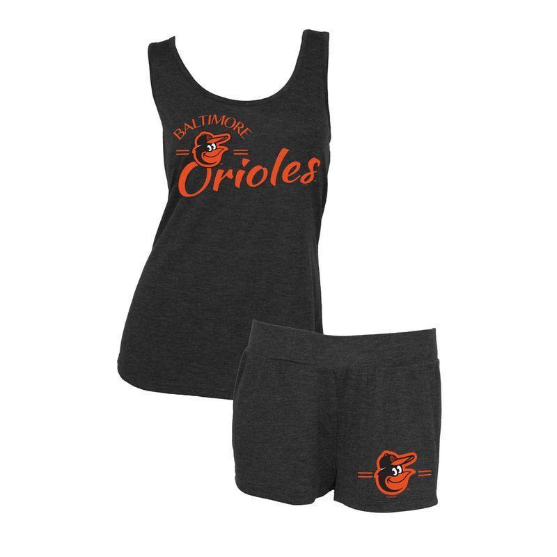 4f03f1333 Baltimore Orioles Concepts Sport Women s Principle Tank Top and Shorts Set  - Black