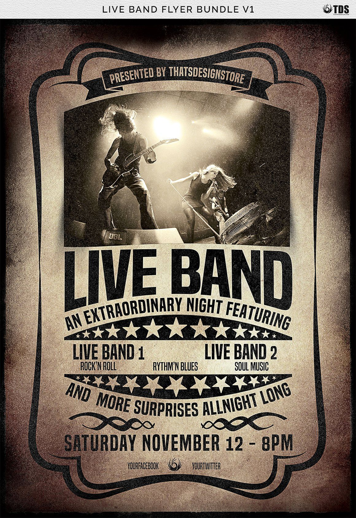 Live band flyer bundle v1 codedcolorlabeledeasy