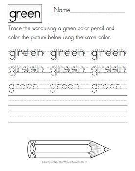 In these activities students have to trace the color