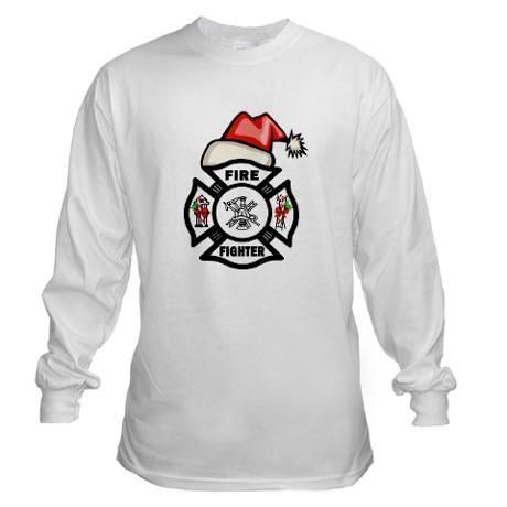 18bb65e0adde0 Christmas Firefighter Long Sleeve T-Shirt