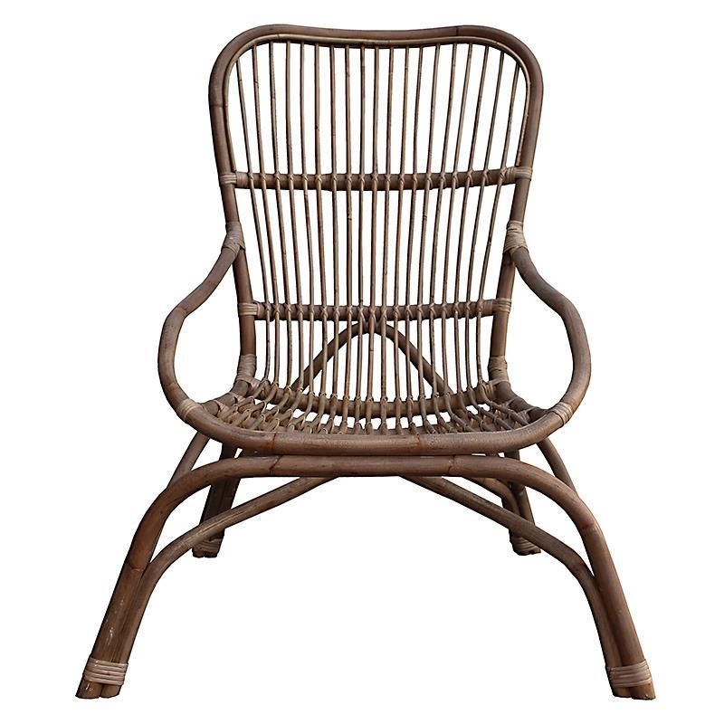 Decorating Wonderful Suncoast Patio Furniture For Comfy: RATTAN LOUNGE CHAIR IN BROWN-GREY COLOR 66Χ92Χ96