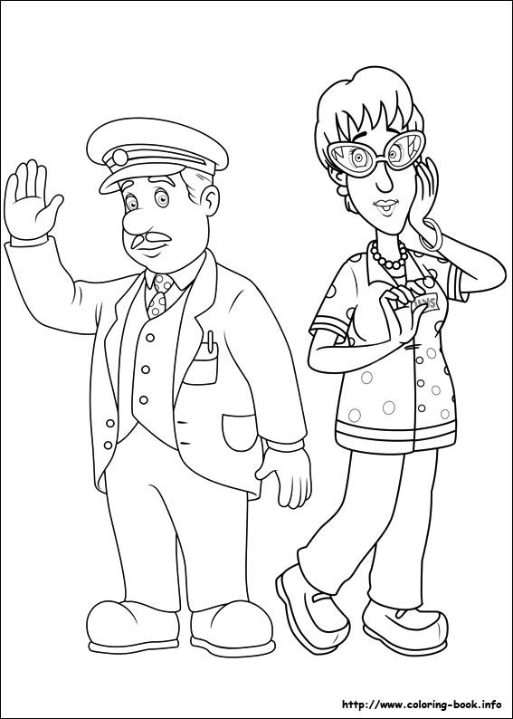 Drawing Fireman Sam Google Sogning Coloring Szinezok Pinterest