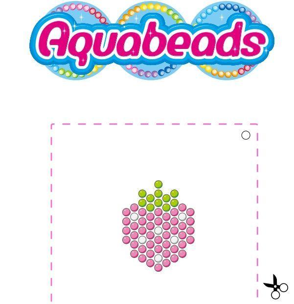 Une #fraise à réaliser en perles #Aquabeads