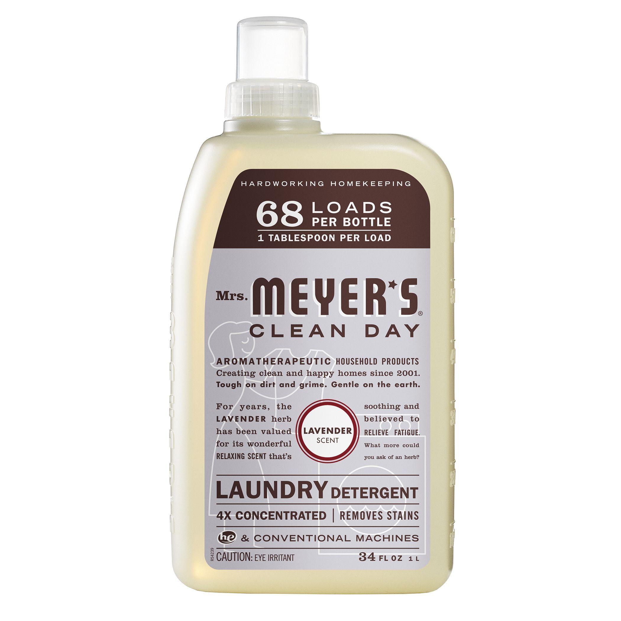 Mrs Meyers 14531 64 Oz Lavender Laundry Detergent 34z Lndry