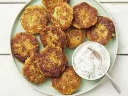 Zucchini Cakes with Herb Sour Cream -   6 healthy recipes Sides sour cream ideas