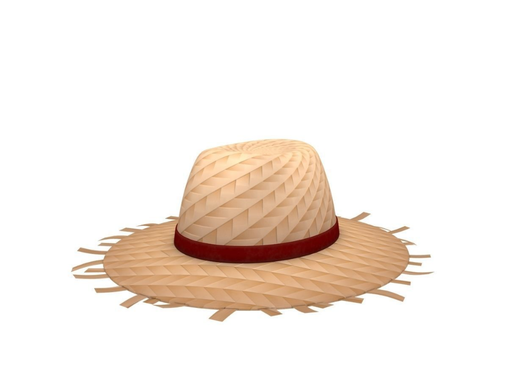 Straw Hat 3d Model Straw Hat Hats Model