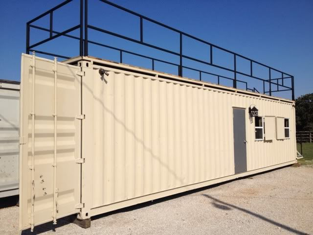 40u0027 Steel Container Hunting Cabin | Trading Post U2013 Swap U2013 Classifieds | Texas  Hunting