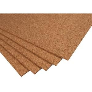 Qep 2 Ft X 3 Ft X 1 4 In Cork Underlayment Sheet 30 Sq Ft 5 Pack 72005q Cork Underlayment Cork Home Depot