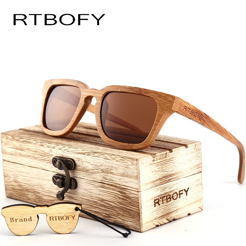 f86edd5c8d Like and Share if you want this RTBOFY 2017 Wood Sunglasses Men Square  Bamboo Sunglasses Vintage Wood HD Lens Frame Handmade Sun Glasses For Men  Eyewear ...