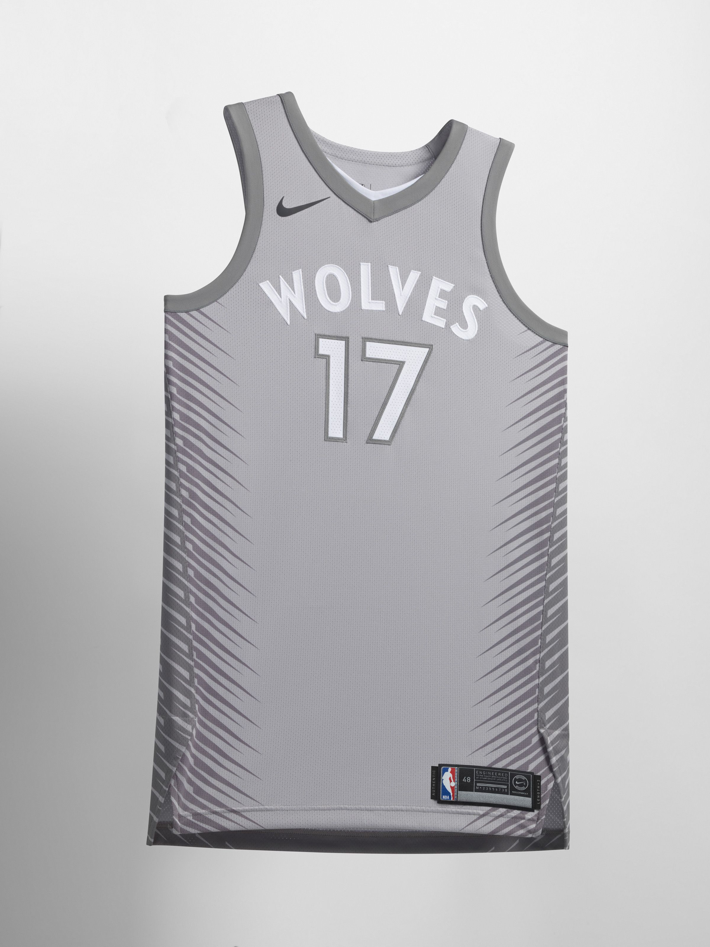 new arrival 1e8a8 f4751 minnesota timberwolves gray jersey