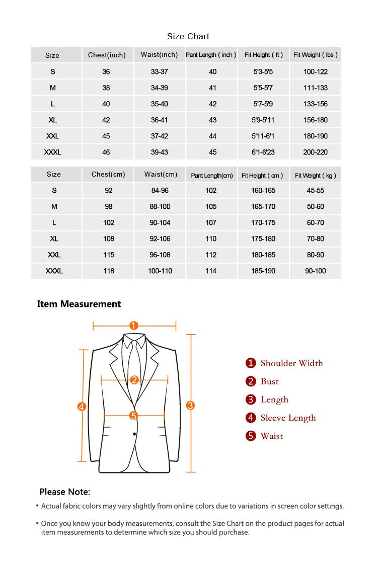 Men Suits Size Chart Suits Cool Suits Mens Suit Stores
