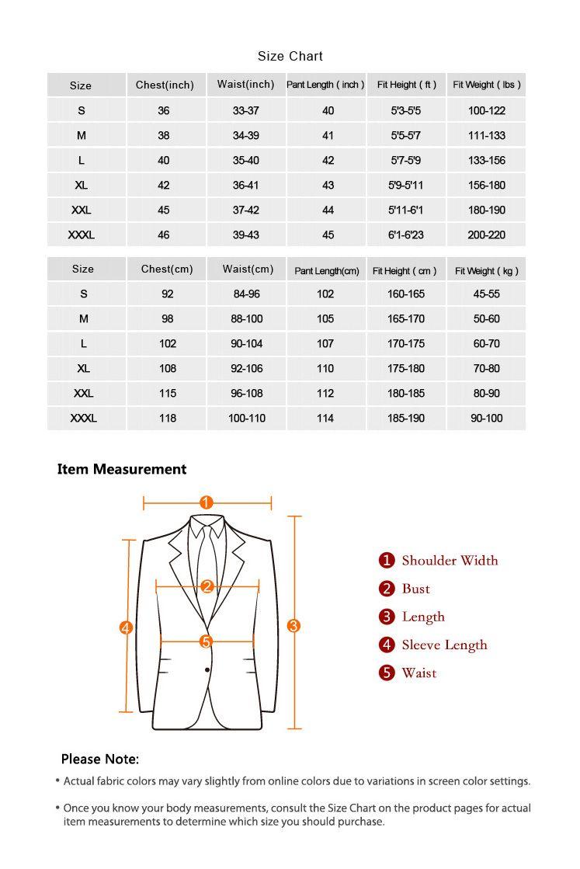 Men suits size chart mens pants size chart size chart