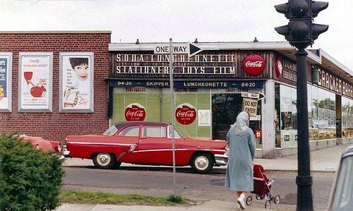 Queens Ny C 1961 Via Queens Nyc Nyc History Street Scenes