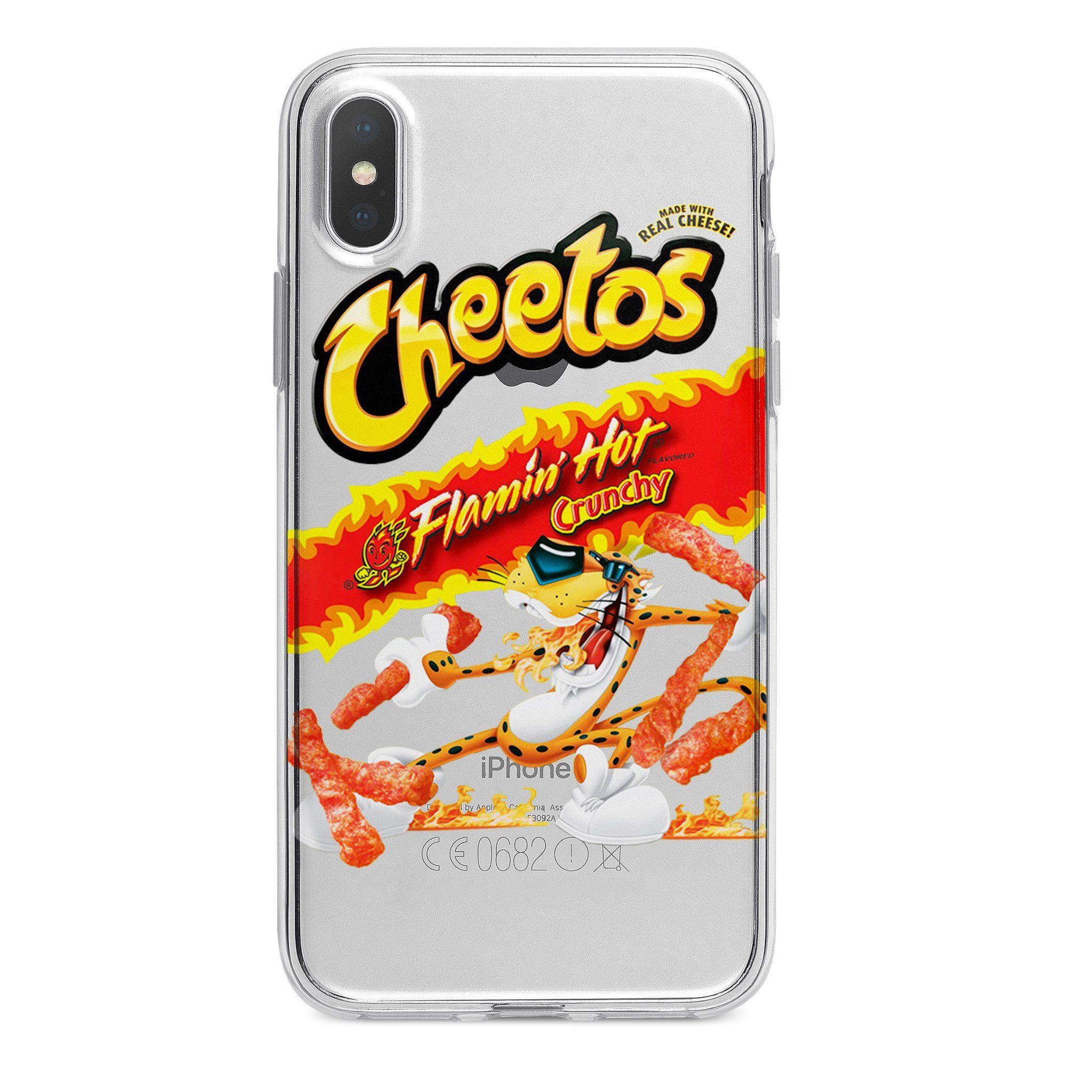 Clear hot cheetos custom iphone case custom iphone cases