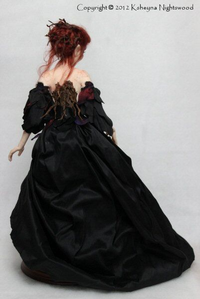OOAK Nightswood Art Dolls: Dark Wood Troll Maiden ~ Dreawyn