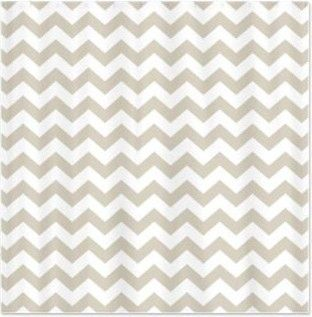 Captivating Chevron Pattern Taupe Shower Curtain Contemporary Shower Curtains