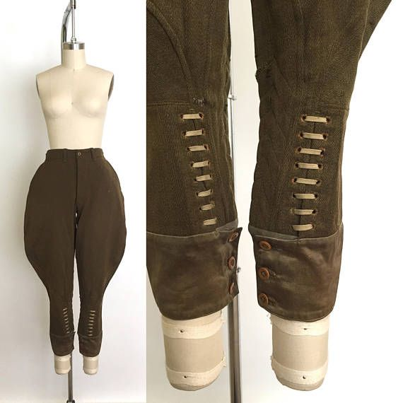 Incredible Late 20s Riding Pants. These Jodhpurs Feature