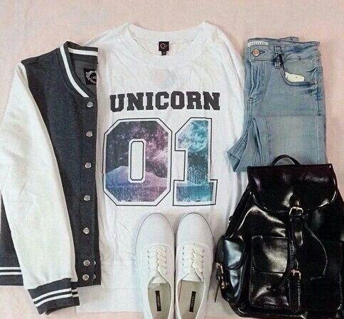 Imagem de fashion, outfit, and unicorn