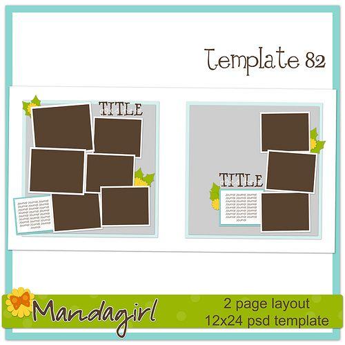 FREE digital scrapbooking templates from MandaGirl.  LOVE her designs!!