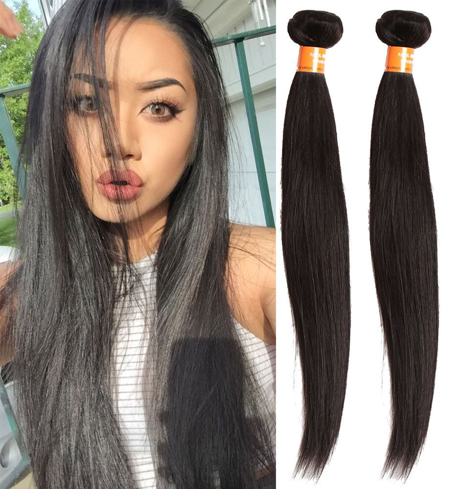 3bundles 161820 Straight Human Hair Extension Stylish Black