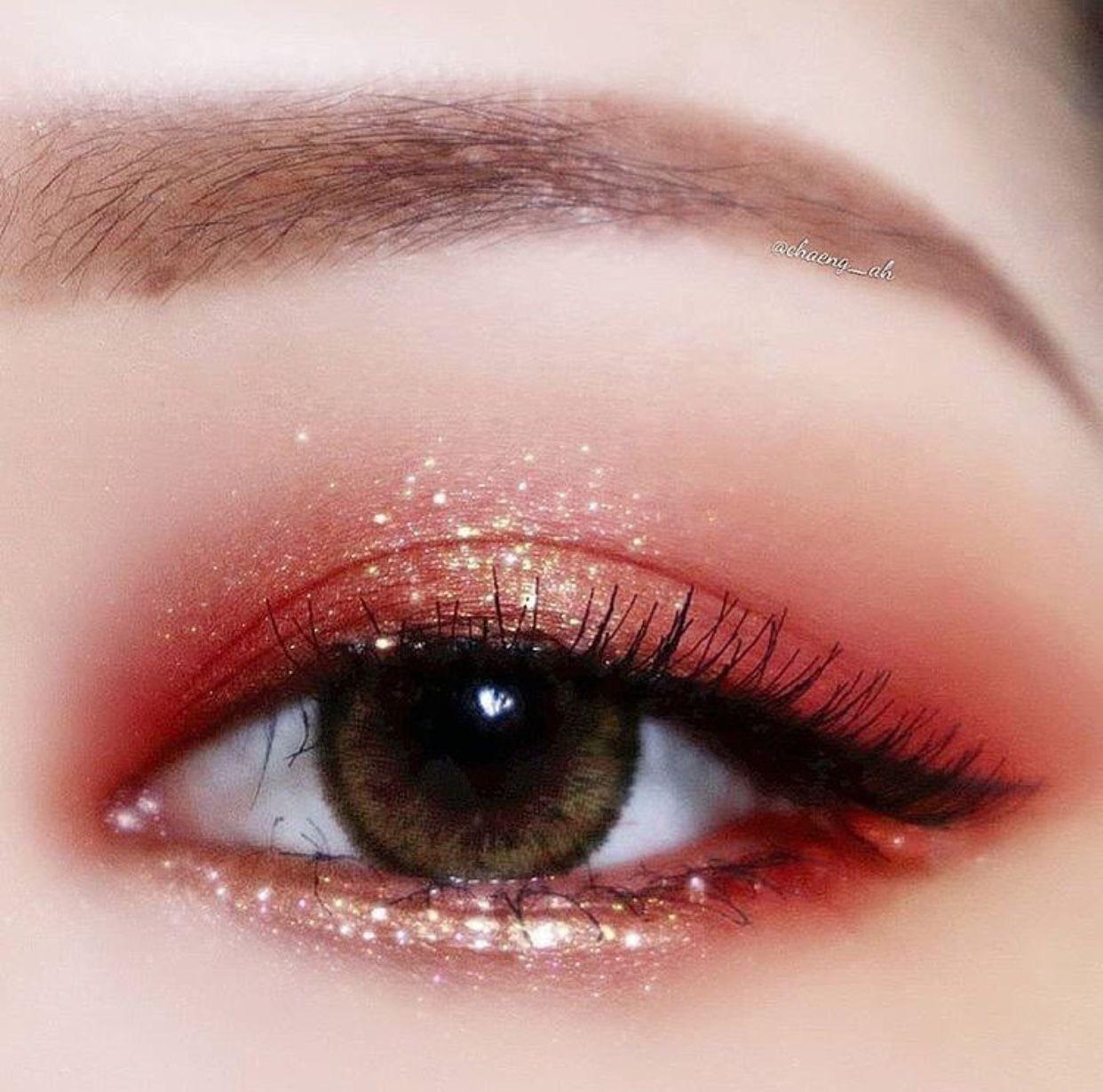 Korean Style Glittery Eye Makeup Korean Eye Makeup Sparkly Eye Makeup Glittery Eye Makeup