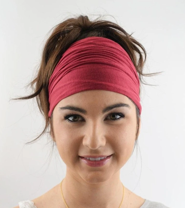 Women/'s Daily Wear Cotton Hippie Headband Ladies Elastic Hair band Yoga Gym
