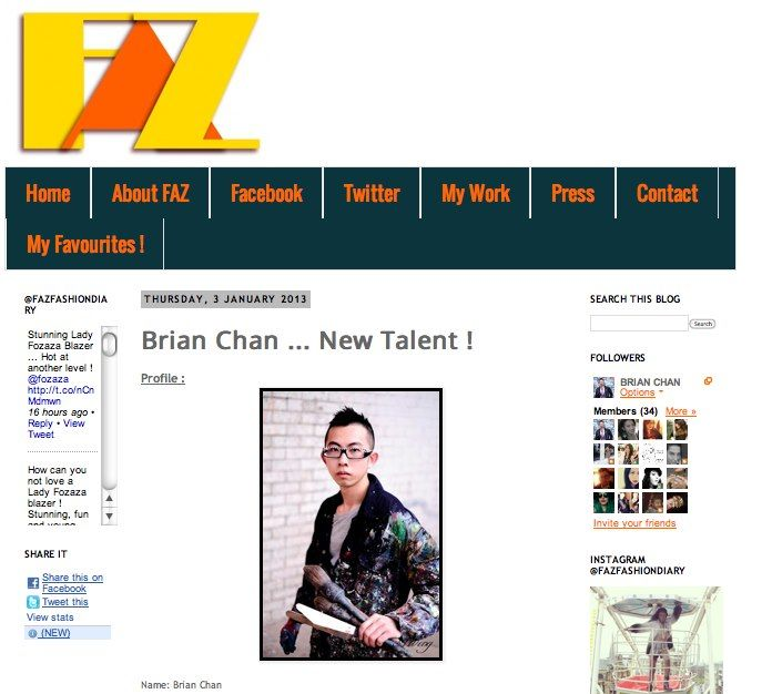 http://fazfashiondiary.blogspot.co.uk/2013/01/brian-chan-new-talent.html    www.brianchan.co.uk