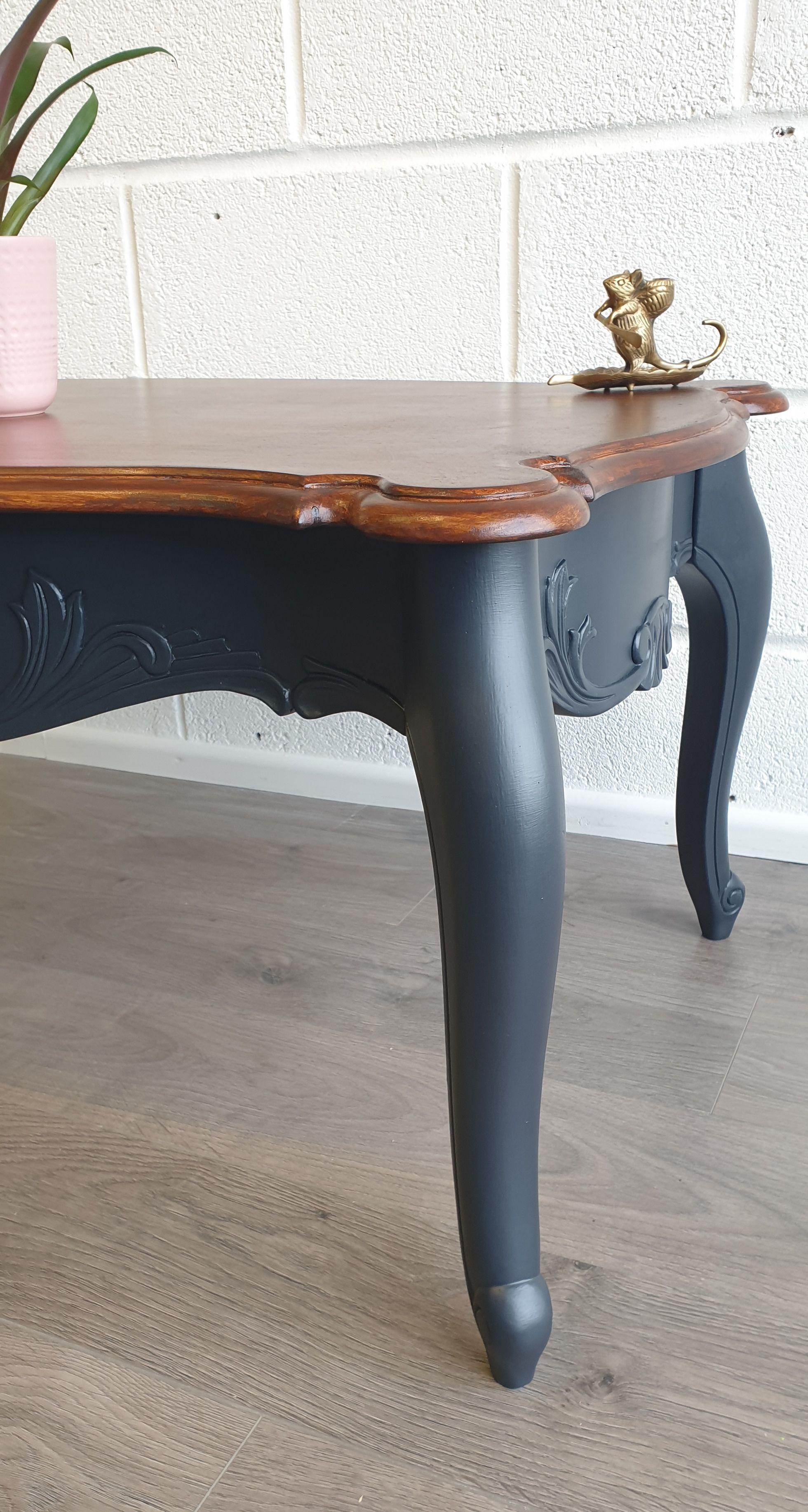 Gothic Dark Blue Coffee Table Blue Coffee Tables Painted Coffee Tables Coffee Table Refinish [ 3667 x 1960 Pixel ]