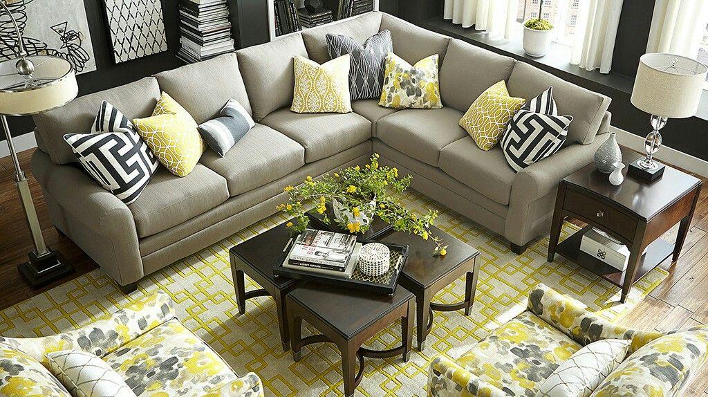 Custom Upholstery By Bassett Furniture Www Crowleyfurniture Com L Shaped Living Room Living Room Diy Living Room Sofa