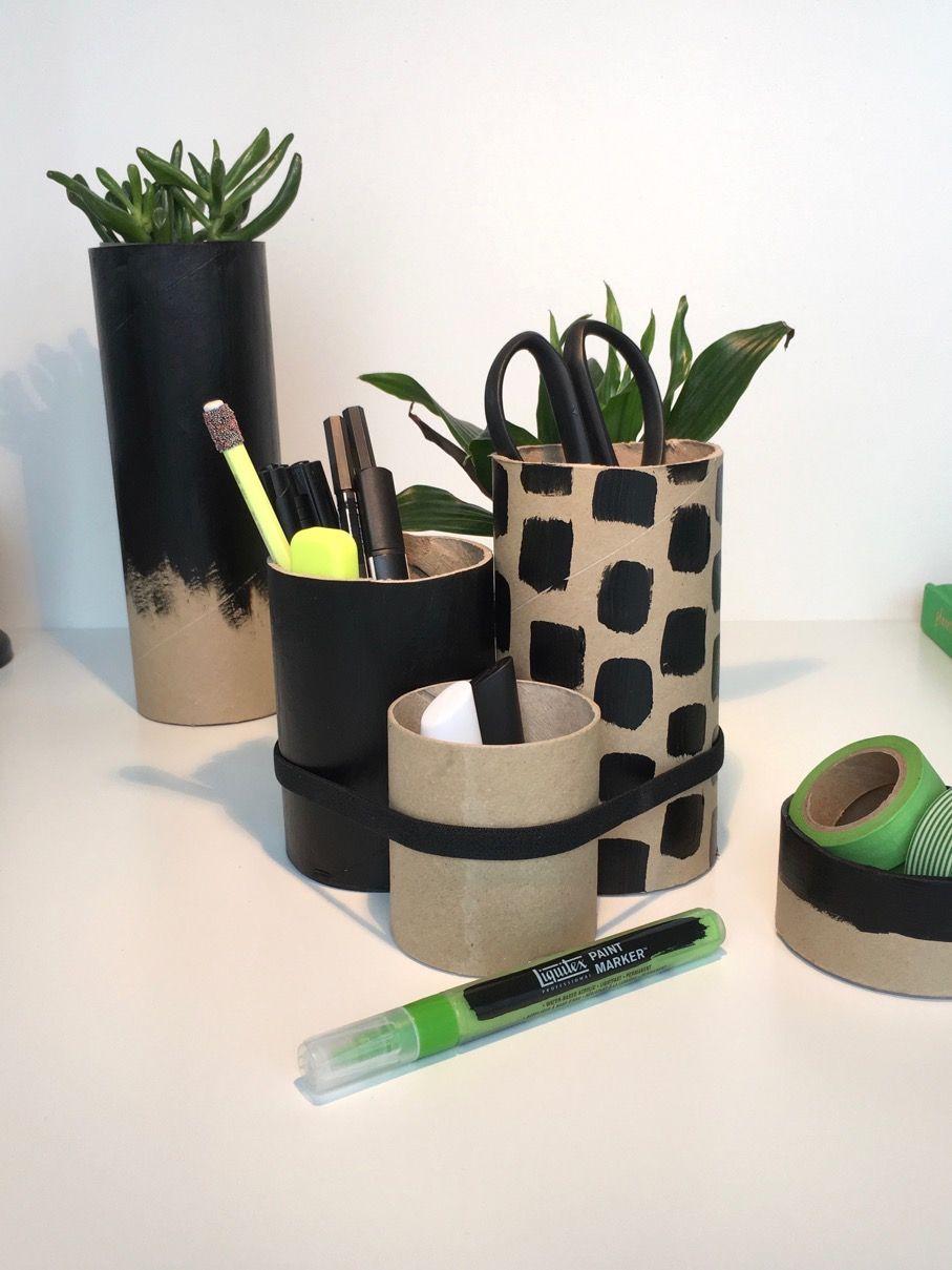 Schreibtisch Len Design versandrollen aus pappe sind perfekte boxen butler organizer und