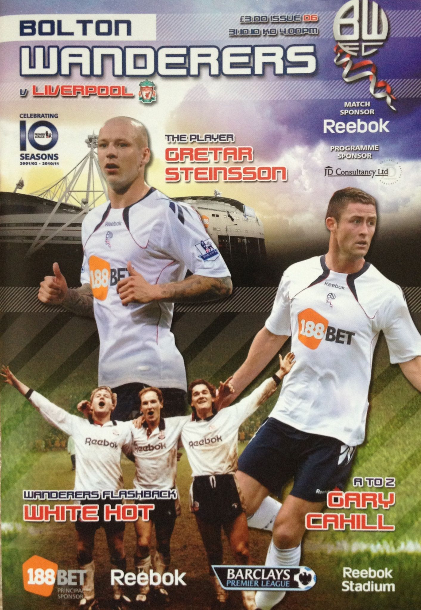 31/10/2010 Bolton Wanderers v Liverpool (With images