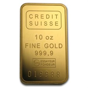 10 Oz Gold Bar Credit Suisse W Assay Gold Bar Apmex In 2020 Credit Suisse Gold Bullion Bars Buy Gold And Silver